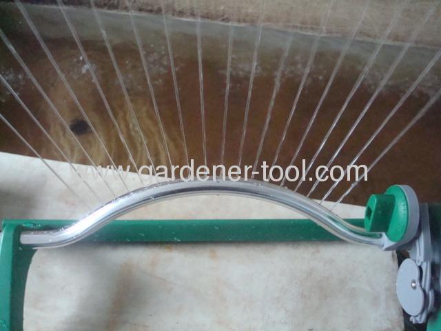 16(18)-hole oscillating sprinkler with aluminium tube base
