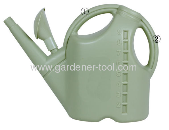 10L Plastic Watering Kettle With Two Handles For Balance Well