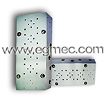Hydraulic valves of size 6mm, custom design cetop3 manifold block