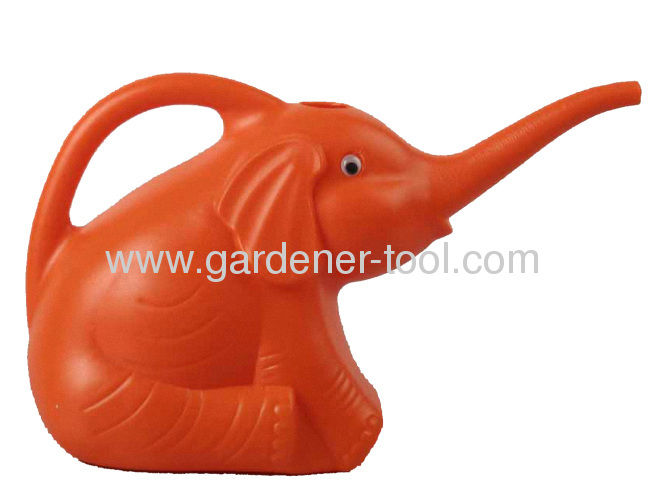 Plastic Kid Watering Can With 1000ML Capacity As elephant