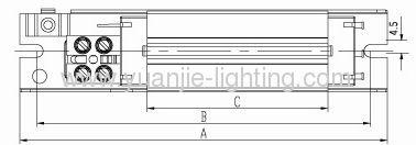 130(L)*26(H)*28(W)mm super-thin compact fluorescent lamp ballast 18W
