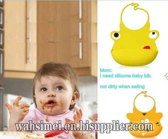 Cheap Waterproof Silicone Infant Bibs For Baby
