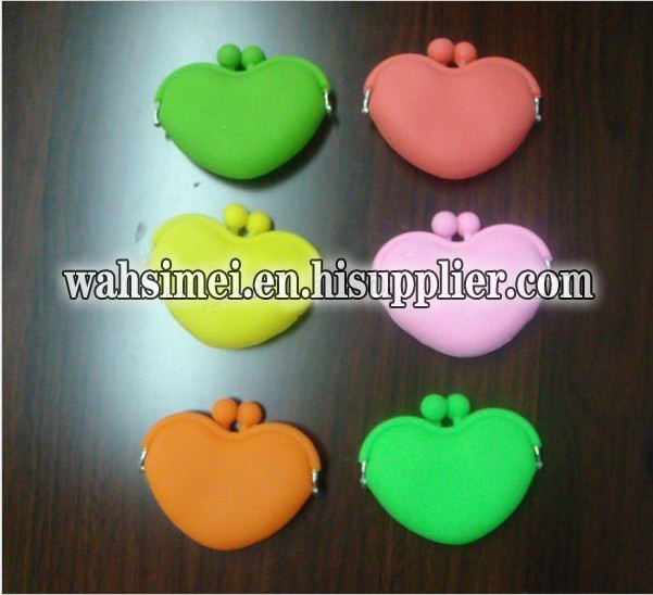 Colorful silicone coin wallet for fashion women