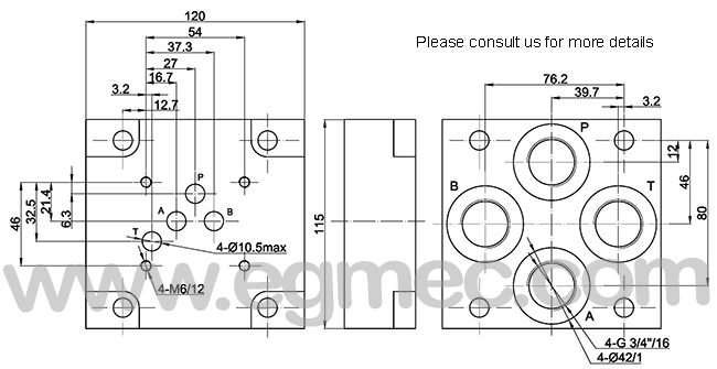 iso4401 standard pattern rexroth g354  01  g3  4  hydraulic subplate manufacturers and suppliers