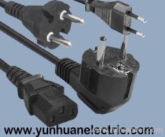 Europe power cord Schuko CEE7/7