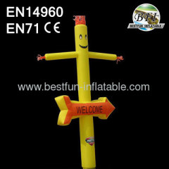 Yellow Cheap Inflatable Advertising Air Dancer