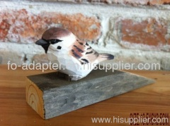 100%handmade wooden door stop
