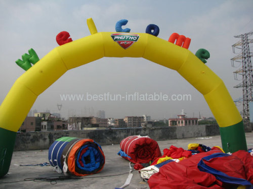Yellow Inflatable Welcome Arch