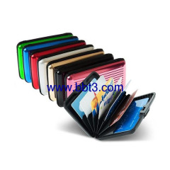 Promotional aluminum card holder with multicolor