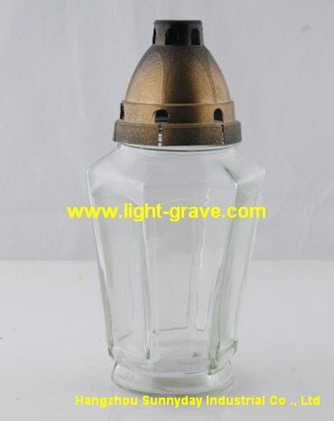 glass grave light,glass cemetery Light,Glass grave candles