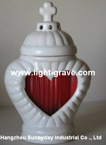 Ceramic Memorial Candle,Ceramic christian light,Ceramic Grave candles