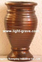 Ceramic grave vase,granite grave vase,Cemetery vase,Ceramic grave lamps