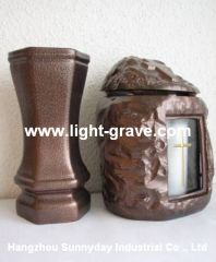 Ceramic grave light,Ceramic Memorial Candle,Ceramic christian light,Ceramic Grave candles