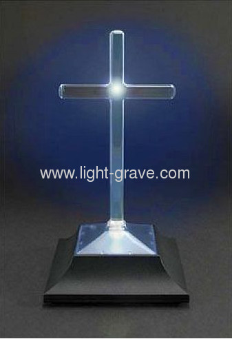 Cross memorial Eternal light,Solar grave light;Solar cemetery Light