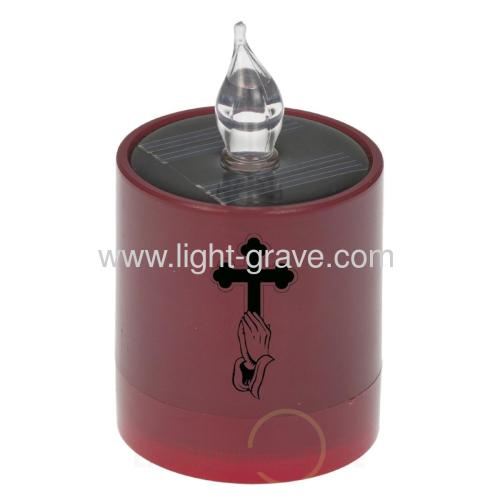 Solar Religious candle,Solar Funeral Supplies,Solar Memorial Lamp,Solar Grave Products