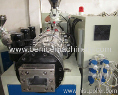 Profile products extruding machine
