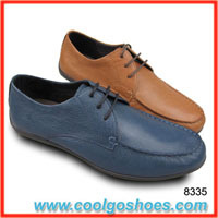 Lace up leather men casual shoes manufacturer