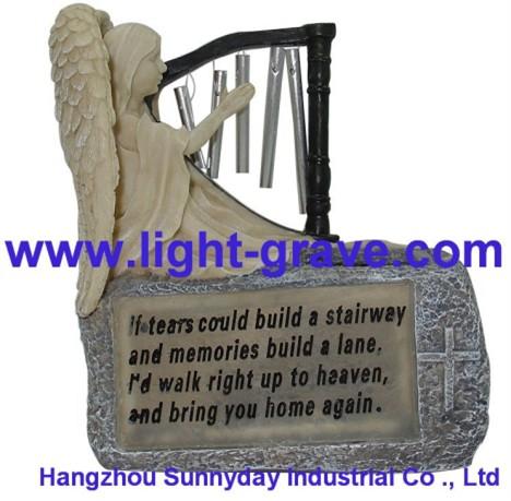 Polyresin Angel solar light,Solar Angel For Garden
