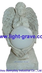 Angel Solar grave Light Made Of Resin,polyresin Angel Light