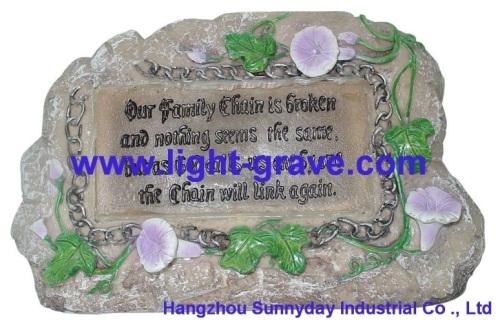 Angel Solar grave Light Made Of Resin,polyresin Angel Light