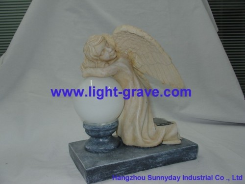 Solar angel,Solar resin angel,Resin Solar angel Lamp