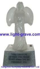 Polyresin Angel solar light,Solar Angel For Garden,Angel Solar grave Light Made Of Resin