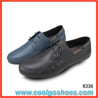 wholesale high quality man made leather casual shoes