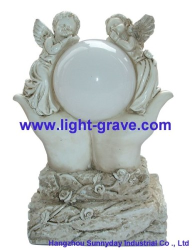 Polyresin Angel solar light,Solar Angel For Garden,Angel Solar grave Light Made Of Resin,polyresin Angel Light