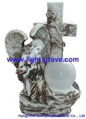 Solar angel,Solar resin angel,Resin Solar angel Lamp