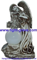 Polyresin Angel solar light,Solar Angel For Garden,Angel Solar grave Light Made Of Resin,polyresin Angel Light
