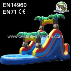 Jungle-Themed Inflatable Water Slide