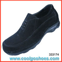 wholesale slip on mens leather casual shoes made in china