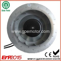 310 EC Centrifugal Fan for static pass box 115V ErP2013