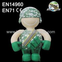 Soldat De Dessin Animé Gonflable Promotionnel