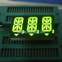 Triple Digit 14 Segment alphanumeric LED Display;14 Segment