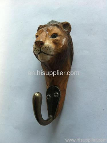 handcraft wood animal hook