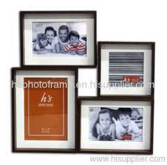 "Wooden photo frame 4x6""-2&5x7""&4x4"""