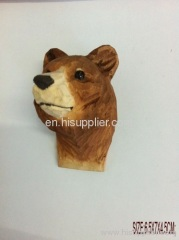 wood carved animal magnet