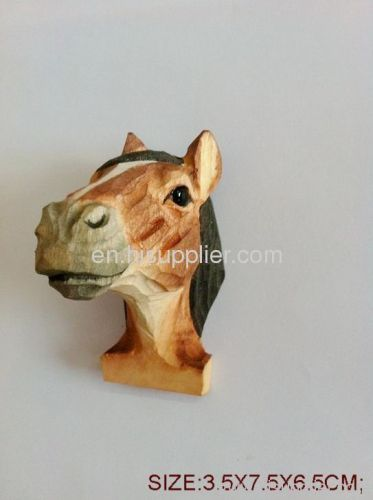 wooden carft animal magnet