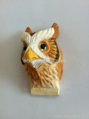wood carving animal magnet