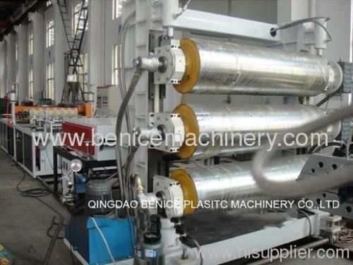 pvc /pc/pp corrugated sheet machine