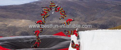 Gigantic Air Bag Stunt Jump