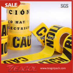 Caution PE danger tape