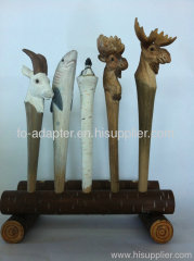 handmade wood ball pen