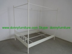 metal modern double bed
