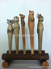 2013wood carving ball pen