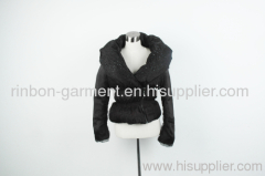BLACK AND POPULAR WINTER SHORT JACKET.