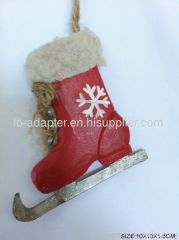 wooden carving christmas boot hanging gift