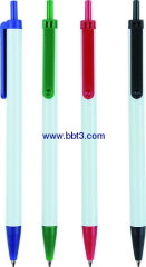 Slim promotional ballpoint pen with white body