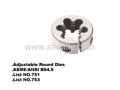 Adjustable round dies list nr.753